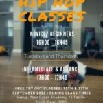 Hip Hop OPEN DAYS 15 & 17 September