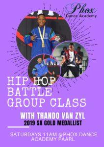 Thando's Hip Hop Battle Group Class